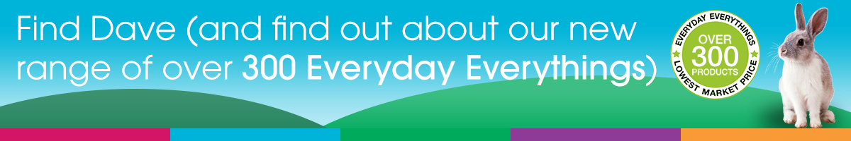 Find Dave (and find out about our new range of over 300 Everyday Everythings)