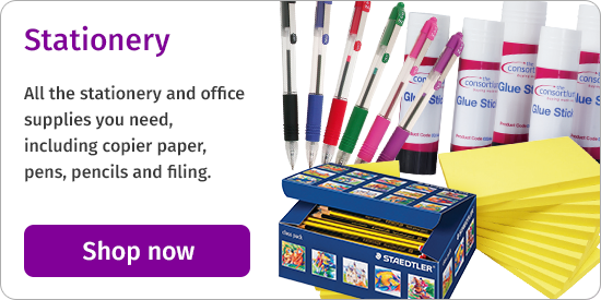 All the stationery and office supplies you need, including copier paper, pens, pencils and filing. Shop now
