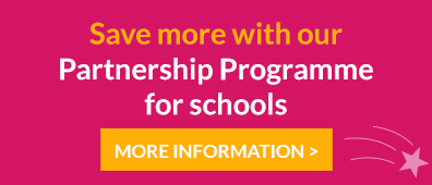 Save more with our Partnership Programme for Schools.